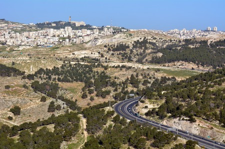 01: Traffic on the east passage way of road number 01 to Jerusalem Israel