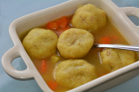 mideast: Kubbeh matfuniya dish served in a bowl. Food background and texture