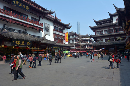 mart: SHANGHAI, CN - MAR 17 2015:Yuyuan Tourist Mart in Shanghai, China.Shanghai Yuyuan Tourist Mart Company Limited, or Yuyuan Tourist Mart, is the largest retailing conglomerate in China.