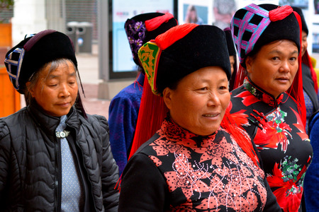 asserts: SHANGHAI - MAR 15 2015:Group of Chines women. Amartya Sen, the Noble Prize-winning economist, asserts that, over 100 million women are missing globally, with 50 million women missing from China alone. Editorial