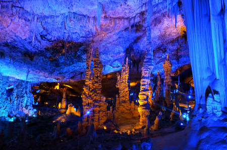 nature reserves of israel: Soreq Avshalom Cave, located in the Judean Mountains, Israel.