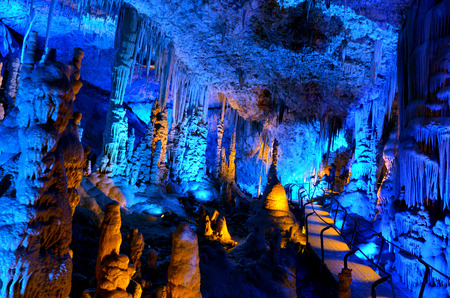 judean hills: Soreq Avshalom Cave, located in the Judean Mountains, Israel.