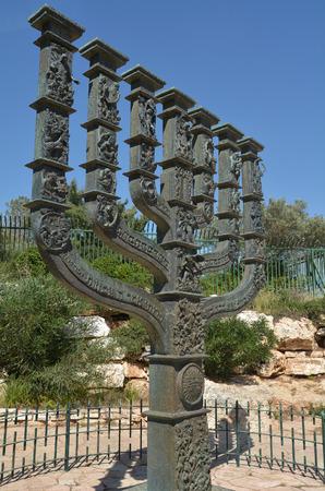knesset: The Knessets Menorah sculpture in Jerusalem Israel