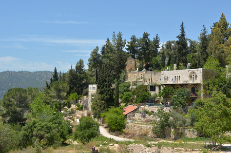 judean hills: Landscape view of Ein Kerem village in Jerusalem Israel