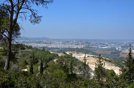 judean hills: Landscape of the modern city of Beit Shemesh located in the Judean mountains ridge near Jerusalem Israel