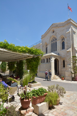 protestant: JERUSALEM, ISR - MAY 05 2015:Christ Church in Jerusalem,  Israel.Christ Church is an evangelical Anglican congregation and the oldest Protestant Church in the Middle East. Editorial