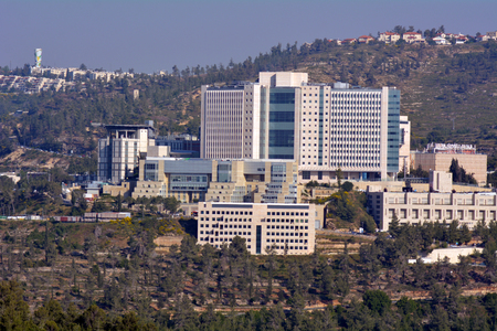 nominated: JERUSALEM - MAR 19 2015: Hadassah Medical Center in Jerusalem, Israel. In 2005 it was nominated for Nobel Peace Prize in acknowledgment of its equal treatment of all patients, regardless of ethnicity.