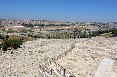 19's: JERUSALEM-MAR 19 2015:Mount of Olives Jewish Cemetery.It�s the most ancient and important cemetery in Israel since First Temple Period It contains 70,000 tombs some of famous figures in Jewish history