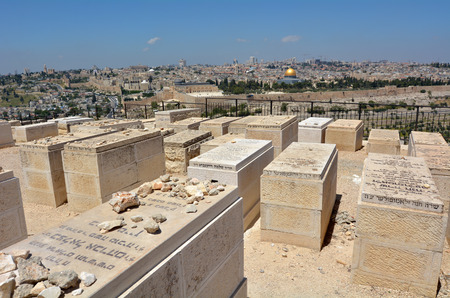 70 s: JERUSALEM-MAR 19 2015:Mount of Olives Jewish Cemetery.It�s the most ancient and important cemetery in Israel since First Temple Period It contains 70,000 tombs some of famous figures in Jewish history