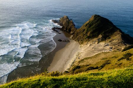 Cape Reinga at the edge of the northland of New Zealand. photo