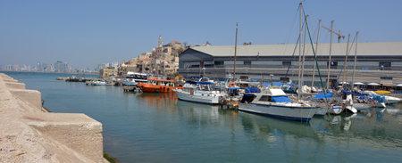 jaffa: Panoramic landscape view of old Jaffa city port in Tel Aviv Jaffa, Israel