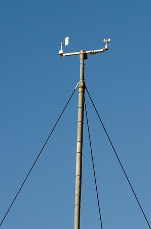 meteorological: Wind speed meter devices in meteorological weather station.