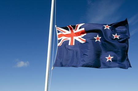 bandera de nueva zelanda: Bandera nacional de Nueva Zelanda. Foto de archivo
