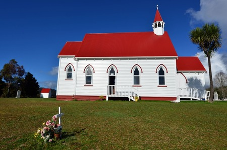 barnabas: St Barnabas Anglican Church, situated in Peria Valley in Northland, New Zealand. Stock Photo
