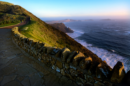 reinga: Landscape of Cape Reinga at the edge of the northland of New Zealand.