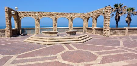 yaffo: Tel Aviv Jaffa boardwalk along the Mediterranean Sea in Tel Aviv Jaffa, Israel