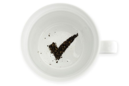 coffee grounds: Coffee grounds reads the future for success.