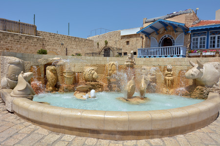 yaffo: The Zodiac Fountain in Kedumim Square in Old Jaffa, Tel Aviv, Israel.