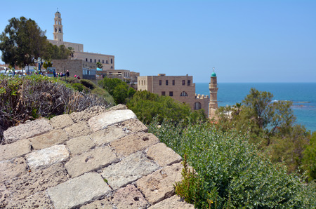 yafo: Landscape of the old city of  Jaffa Yafo city in Tel Aviv Jaffa, Israel