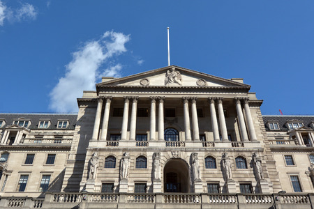 the central bank: Bank of England Central Bank Headquarters faced in City of London, UK. Editorial