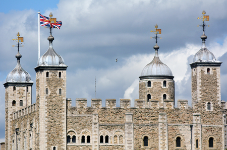 hamlets: The White Tower of The Tower of London in City of London, UK.