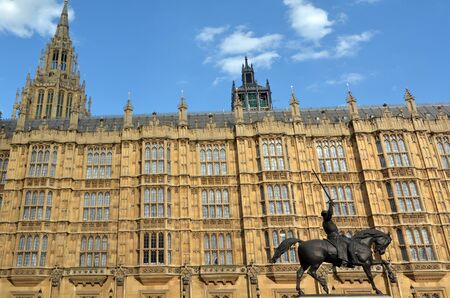 commons: LONDON - MAY 14 2015: Palace of Westminster in London, England UK.Its the meeting place of the House of Commons and the House of Lords, the two houses of the Parliament of the United Kingdom. Editorial