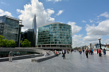 shard of glass: LONDON MAY 13 2015:The Shard skyscraper tower as view from london borough of southwark.The glass pyramidal tower has 72 floors with open-air observation deck at a height of 244.3 metres (802 ft).