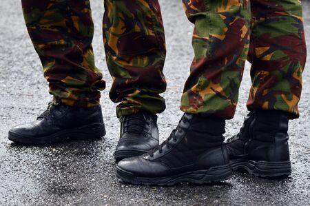 the dazzle: NZ Army combat uniform on a soldiers.