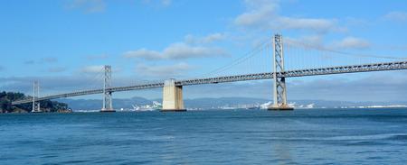 bay bridge: Panoramic view of Oakland Bay Bridge in San Francisco, California.