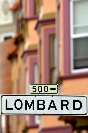 twisty: Lombard St - Street sign  in San Francisco California.