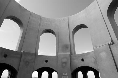 telegraph hill: Coit Tower mural rotunda in San Francisco California.