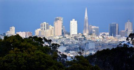transamerica: SAN FRANCISCO - MAY 19 2015: Transamerica Pyramid in San Francisco skyline. The Transamerica Pyramid is the tallest skyscraper in the San Francisco skyline.