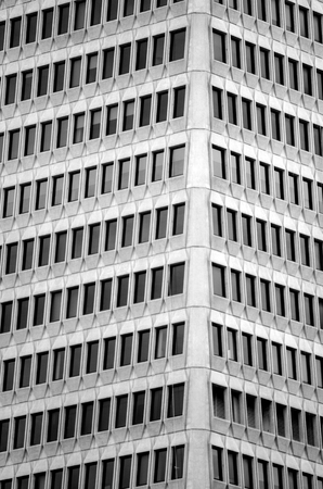 pivot: SAN FRANCISCO - MAY 18 2015:Transamerica Pyramid building windows.It has 3,678 windows and because of the shape of the building most windows can pivot 360 degrees so they can be washed from the inside