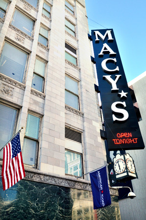 macys: SAN FRANCISCO, USA - MAY 19 2015:Macys store in San Francisco Union square.It is a mid-range chain of department stores owned by American multinational corporation Macys, Inc.