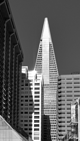 transamerica: SAN FRANCISCO - MAY 21 2015:Transamerica Pyramid in San Francisco downtown.Since 911 attacks for security reasons, the general public is only allowed on the ground lobby. Editorial