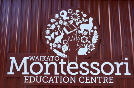 emphasis: HAMILTON, NZL - MAY 22 2015:Montessori education center.Its an educational approach of Maria Montessori emphasis on child independence, freedom, respect, psychology, physical and social development. Editorial