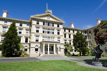 old new: The old Parliament Building of New Zealand in Wellington, NZ.