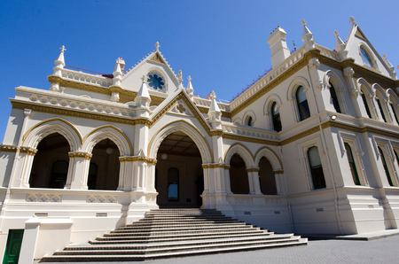 wellington: Parliament library, Wellington, New Zealand.