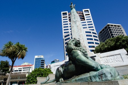 wellington: The Wellington cenotaph, also known as the Wellington Citizens War Memorial, was unveiled on Anzac Day 25 April 1931, Wellington, NZ.