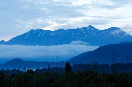 tongariro national park: Mt Ruapehu in Tongariro National Park, New Zealand. Stock Photo