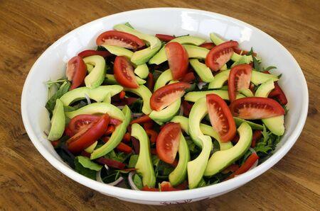 bawl: Fresh green salad bawl food diet. Stock Photo