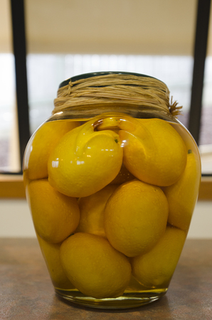 fruity salad: Fruit preserved jar of lemons