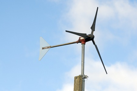 anemometer: A windmill style of anemometer. Stock Photo