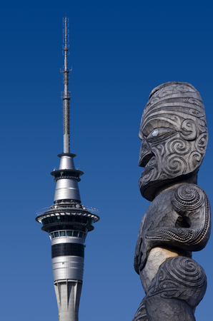 nz: AUCKLAND, NZ - MAY 27:Auckland Sky Tower on May 27 2013. The tower attracts an average of 1,450 visitors per day (over 500,000 per year).