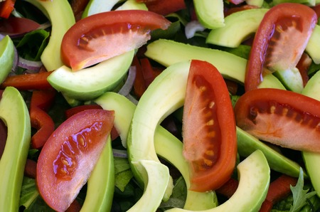 bawl: Fresh green salad bawl food diet. Stock Photo