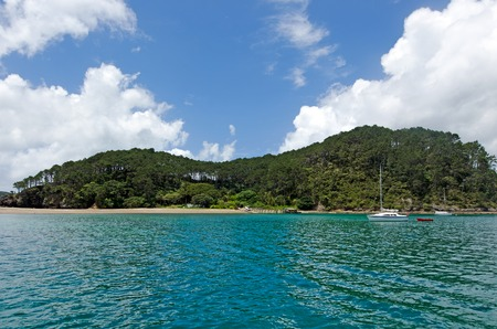 tourist destinations: Landscape view of Roberton Island in the Bay of Islands.Its one of the most popular fishing, sailing and tourist destinations in New Zealand.