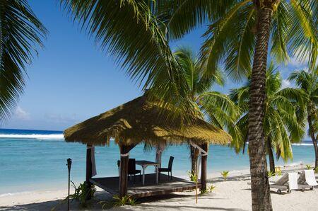 rarotonga: Piccolo Pacific Island Hut in Rarotonga Isole Cook. Archivio Fotografico