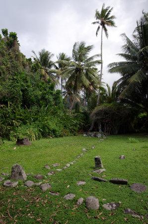 RAROTONGA - SEP 21:Arai Te Tonga Marae on Sep 21 2013.Its the most sacred site in Rarotonga Island .The circa dated 1250 AD.
