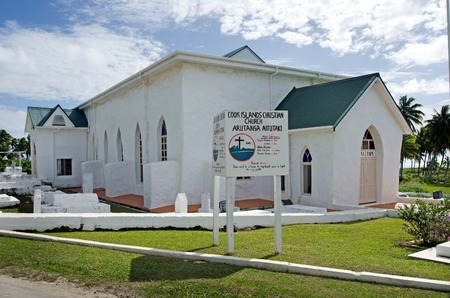 worship service: AITUTAKI - SEP 20:Aitutaki Cook Islands Christian Church (CICC) on Sep 201 2013.Aitutaki people were the first to accept Christianity and Its the oldest church in Cook Island.