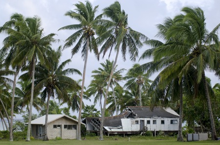 pat: AITUTAKI - SEP 17:Destroyed house from Cyclone Pat on sep 17 2013.It strike the island on Feb 10 2010.Its one of the biggest cyclones to hit the area in 20 years.Damage was estimated at NZ$15 million. Editorial